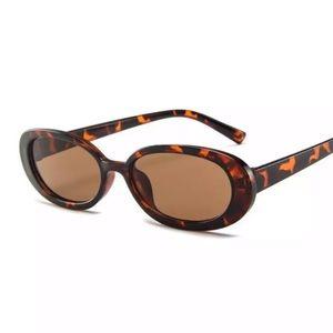 Leopard Oval Sunglasses